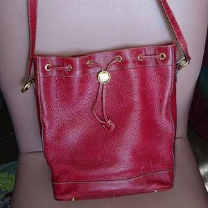 "Gucci bucket handbag vintage 13x12x5""  leather"